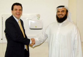 David Brennan, Etisalat Academy's  General Manager with Ahmed Darwish, General Manager